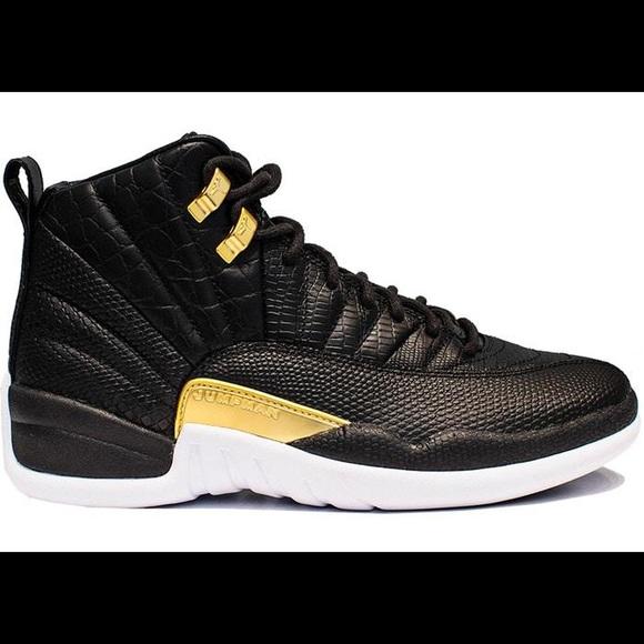 jordan 12 retro black and gold